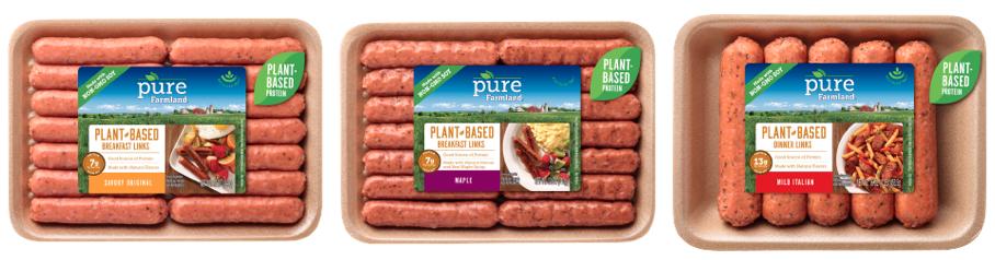 Pure Farmland Introduces Three New Plant-Based Sausage Links