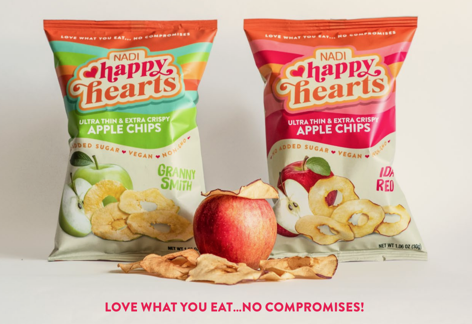 NADI Introduces Happy Hearts Apple Chips