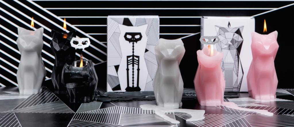 PyroPet Candles Melt Into Creepy Metallic Skeletons